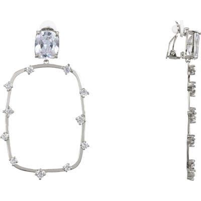 Nina Adorned Rectangular Clip-On Earrings