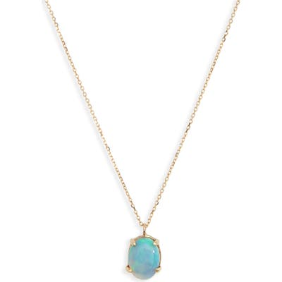 Wwake Charn Opal Pendant Necklace
