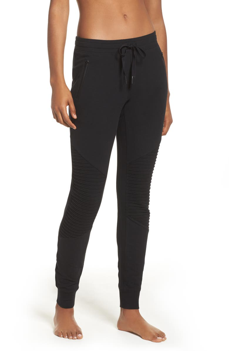 ALO Urban Moto Sweatpants, Main, color, 001