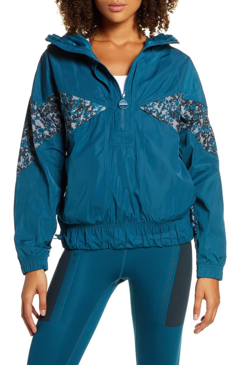 ADIDAS BY STELLA MCCARTNEY Light Half Zip Jacket, Main, color, TECH MINERAL