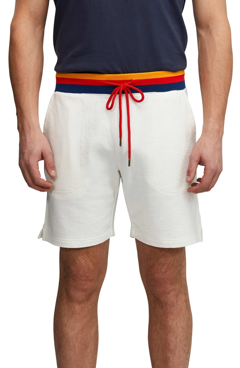 PSYCHO BUNNY Bromford Knit Shorts, Main, color, WHITE
