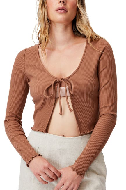 Image of Cotton On Vivvy Tie Front Long Sleeve Cardigan