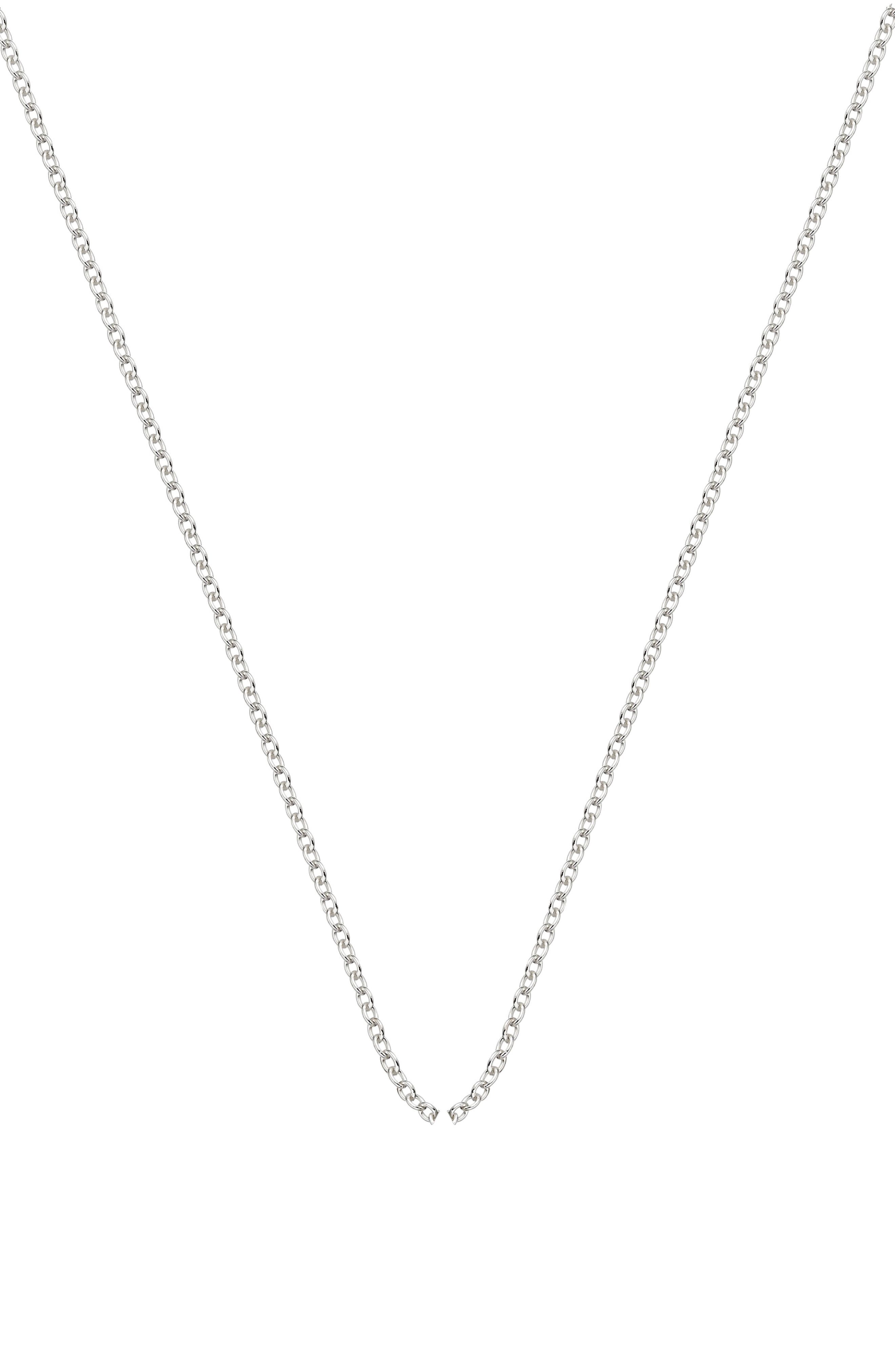 ,                             Rolo Chain Necklace,                             Main thumbnail 1, color,                             SILVER