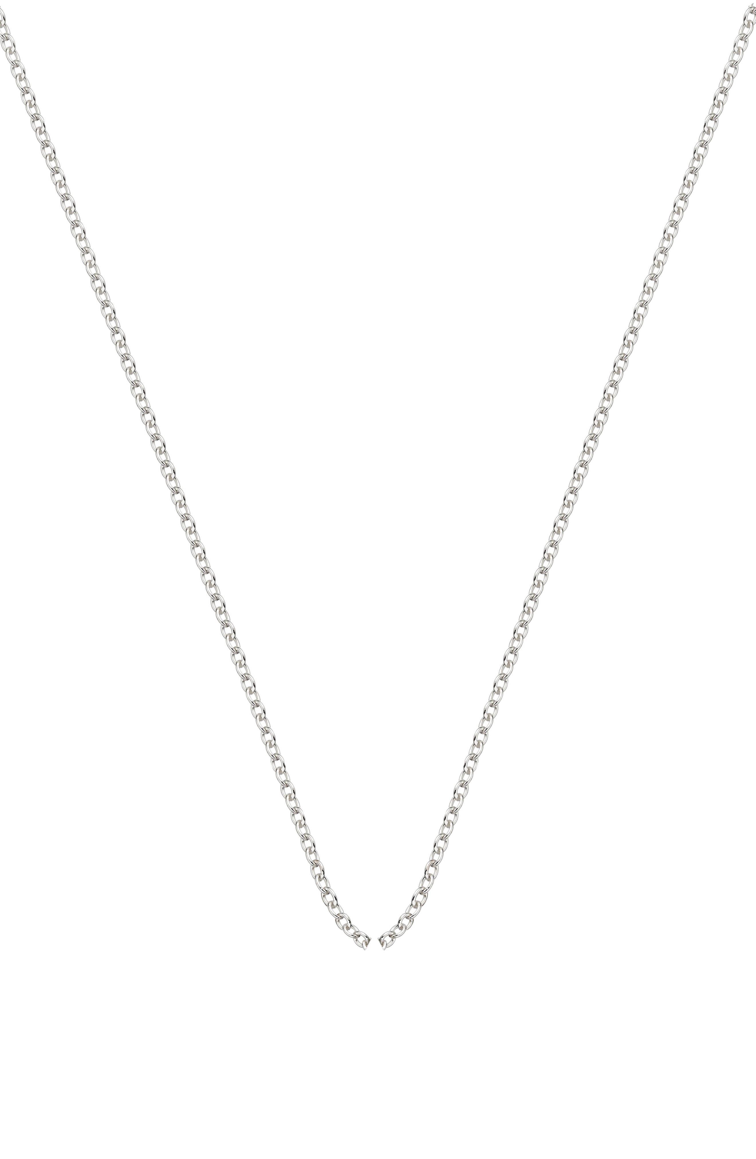 Rolo Chain Necklace, Main, color, SILVER