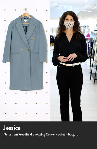 Brook Double Breasted Longline Coat, sales video thumbnail