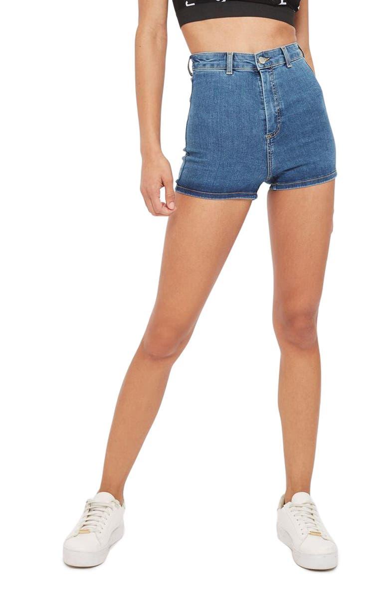 TOPSHOP Joni Shorts, Main, color, 400