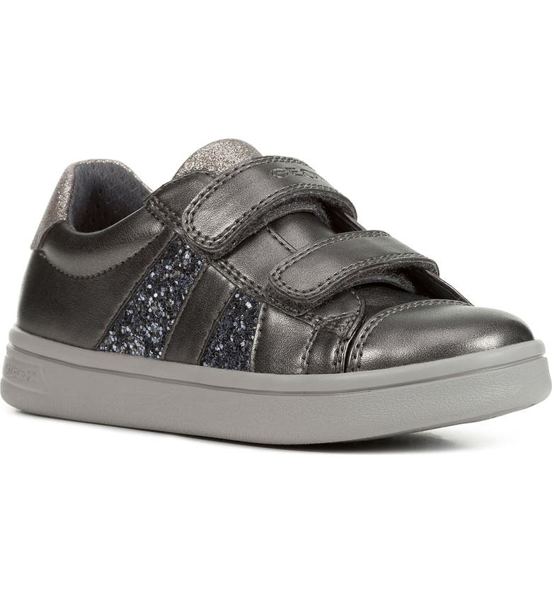 GEOX DJ Rock 35 Glitter Sneaker, Main, color, DARK GREY