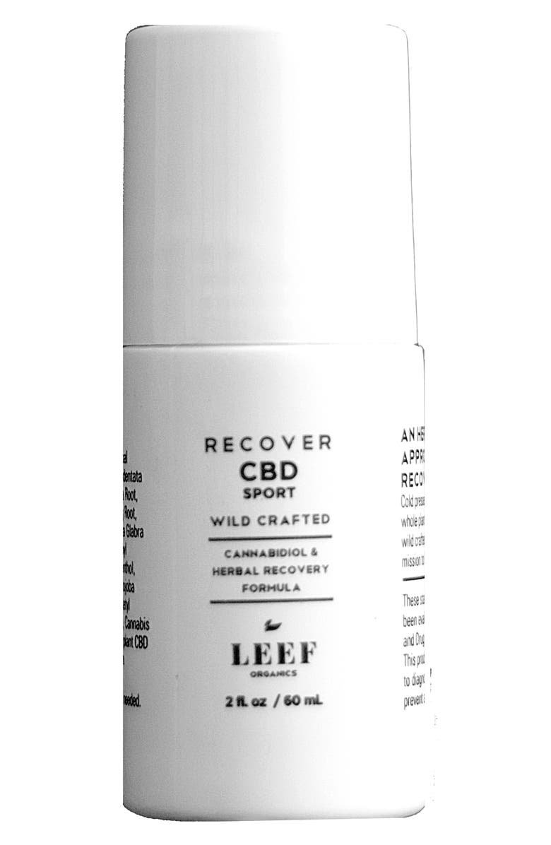 LEEF ORGANICS Recover CBD Sport Herbal Recovery Formula, Main, color, NO COLOR