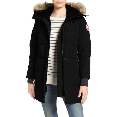 Canada Goose Shelburne Fusion Fit Genuine Coyote Fur Trim Down Parka