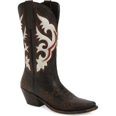 Matisse Stampede Cowboy Boot, Black