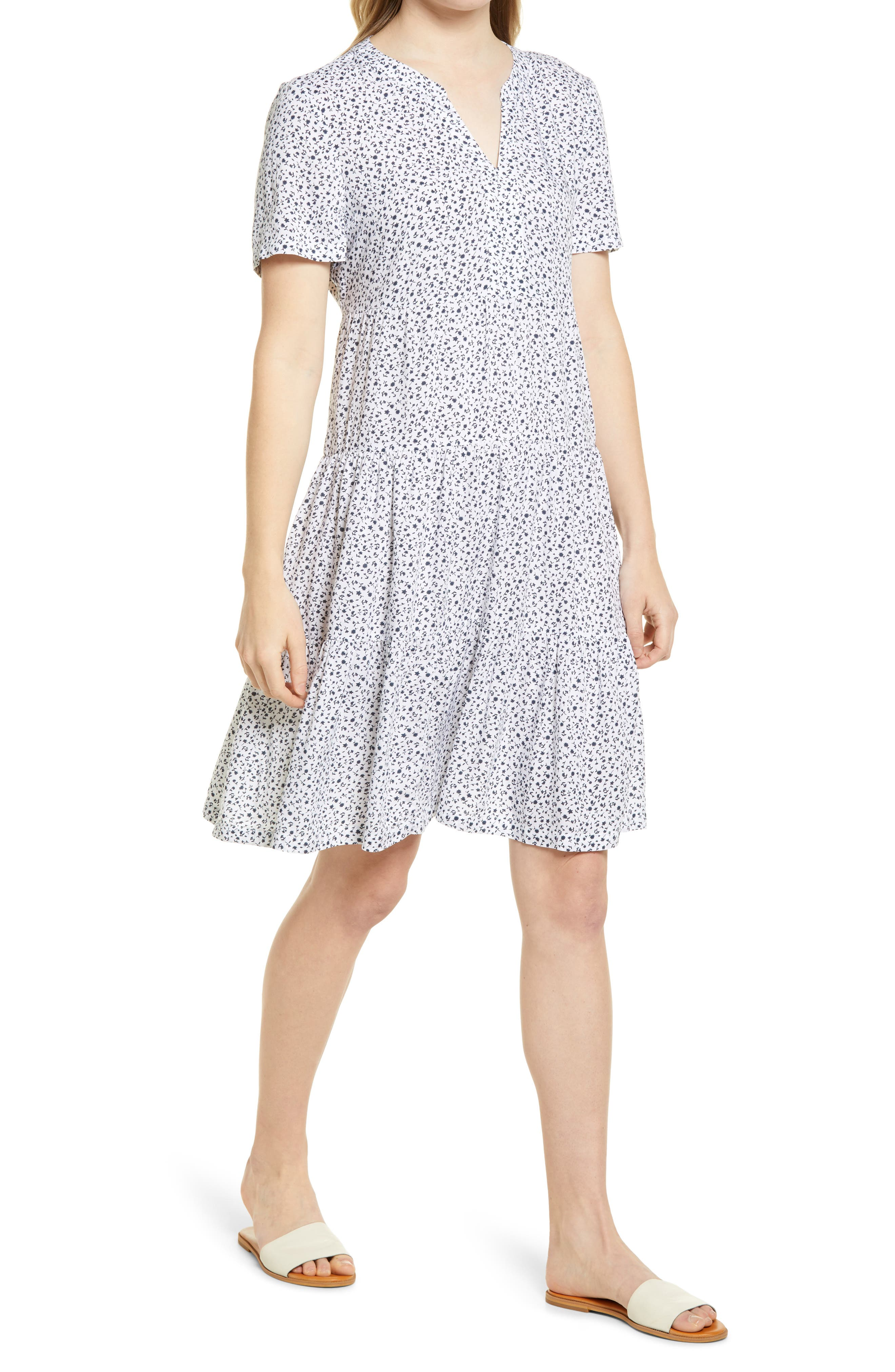 Coley Print Tiered Shift Dress