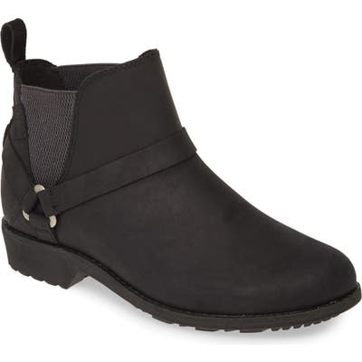 Teva Ellery Waterproof Chelsea Boot, Black