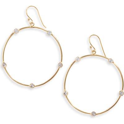 Argento Vivo Station Hoop Earrings