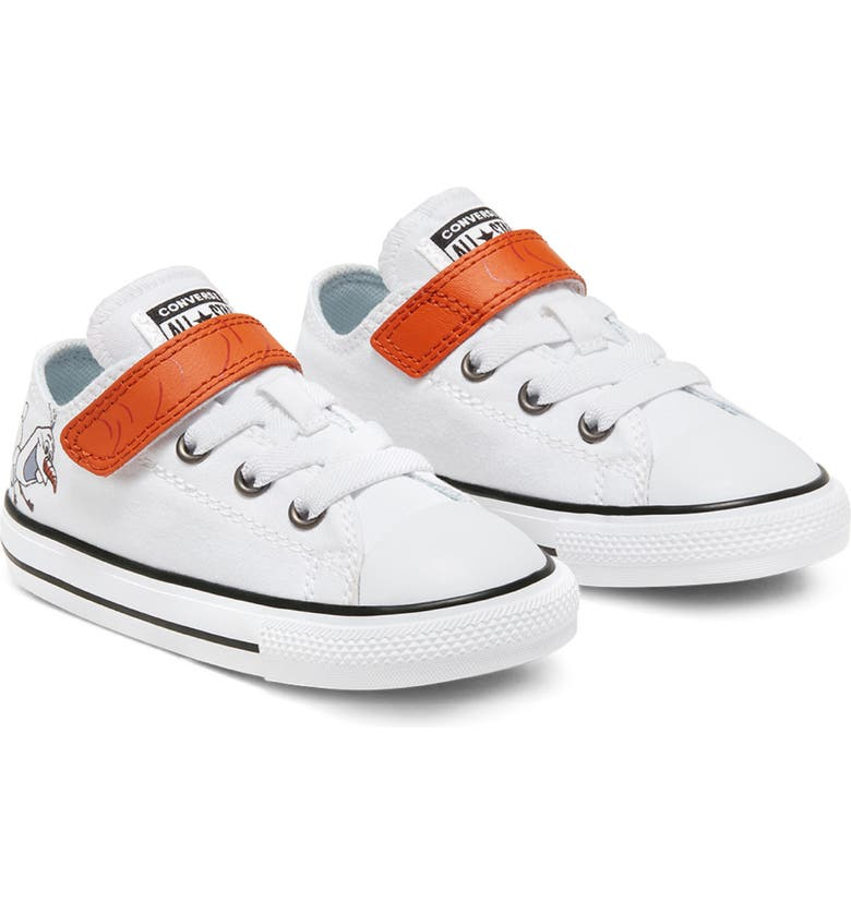 CONVERSE Chuck Taylor<sup>®</sup> All Star<sup>®</sup> Disney 'Frozen' Olaf 1V Low Top Sneaker, Main, color, WHITE