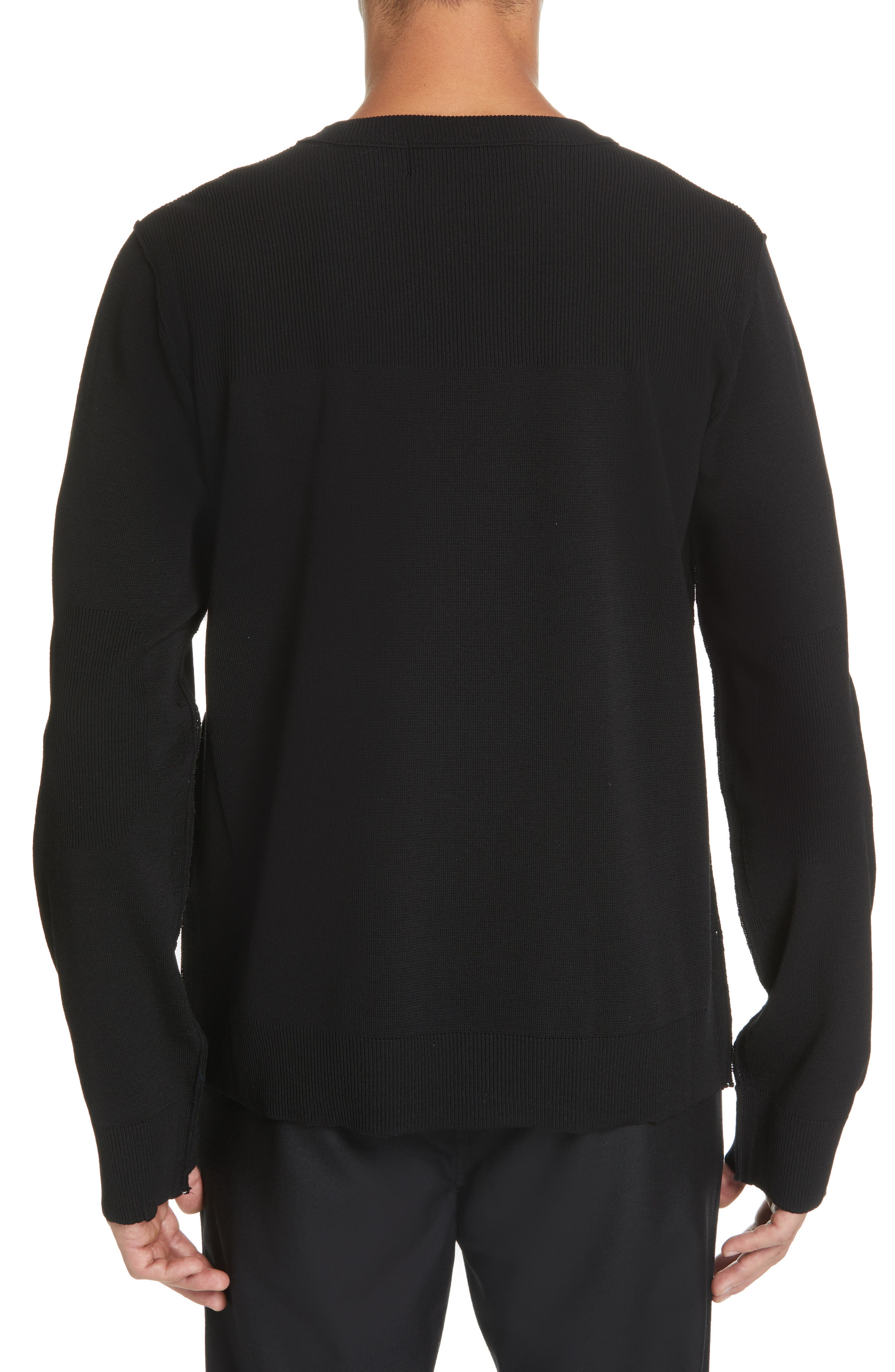 ,                             Contrast Stitch Wool Blend Sweater,                             Alternate thumbnail 2, color,                             001