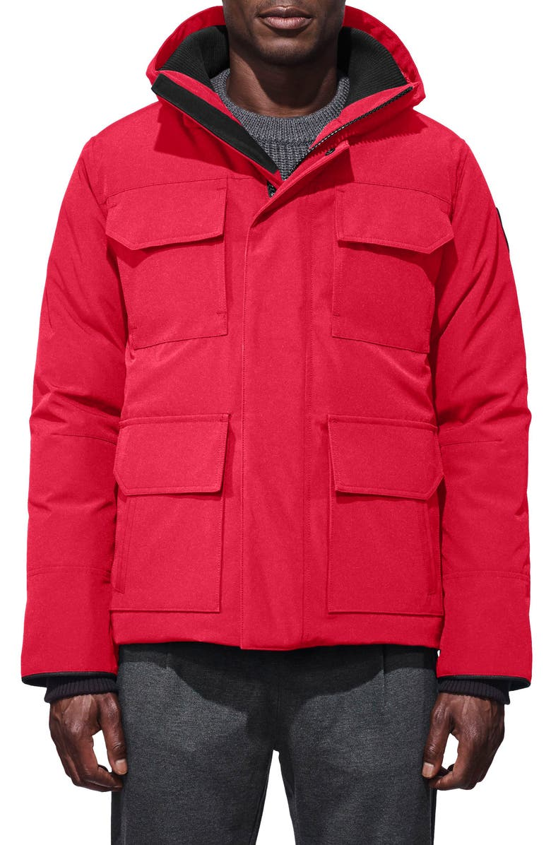CANADA GOOSE 'Maitland' Slim Fit Down Fill Parka, Main, color, RED