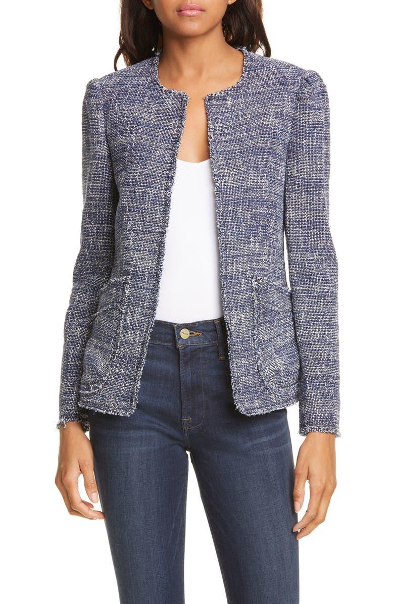 REBECCA TAYLOR Tweed Jacket, Main, color, 482