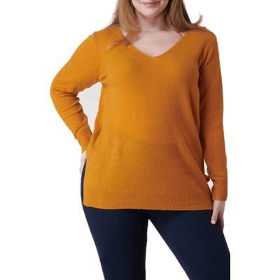 Plus Size Maree Pour Toi Wool & Cashmere Sweater, Yellow