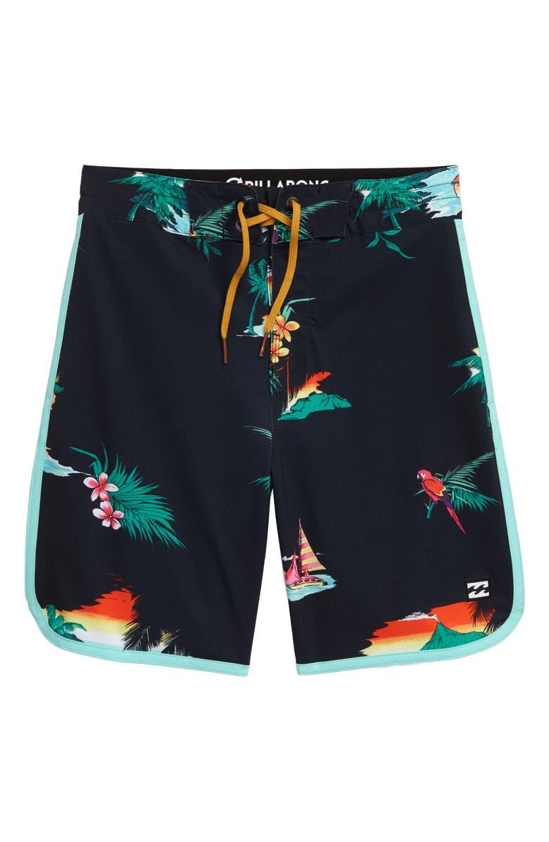 BILLABONG Lineup Boardshorts, Main, color, ASPHALT