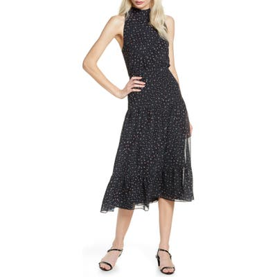 Sam Edelman Ditsy Astro Midi Dress, Black