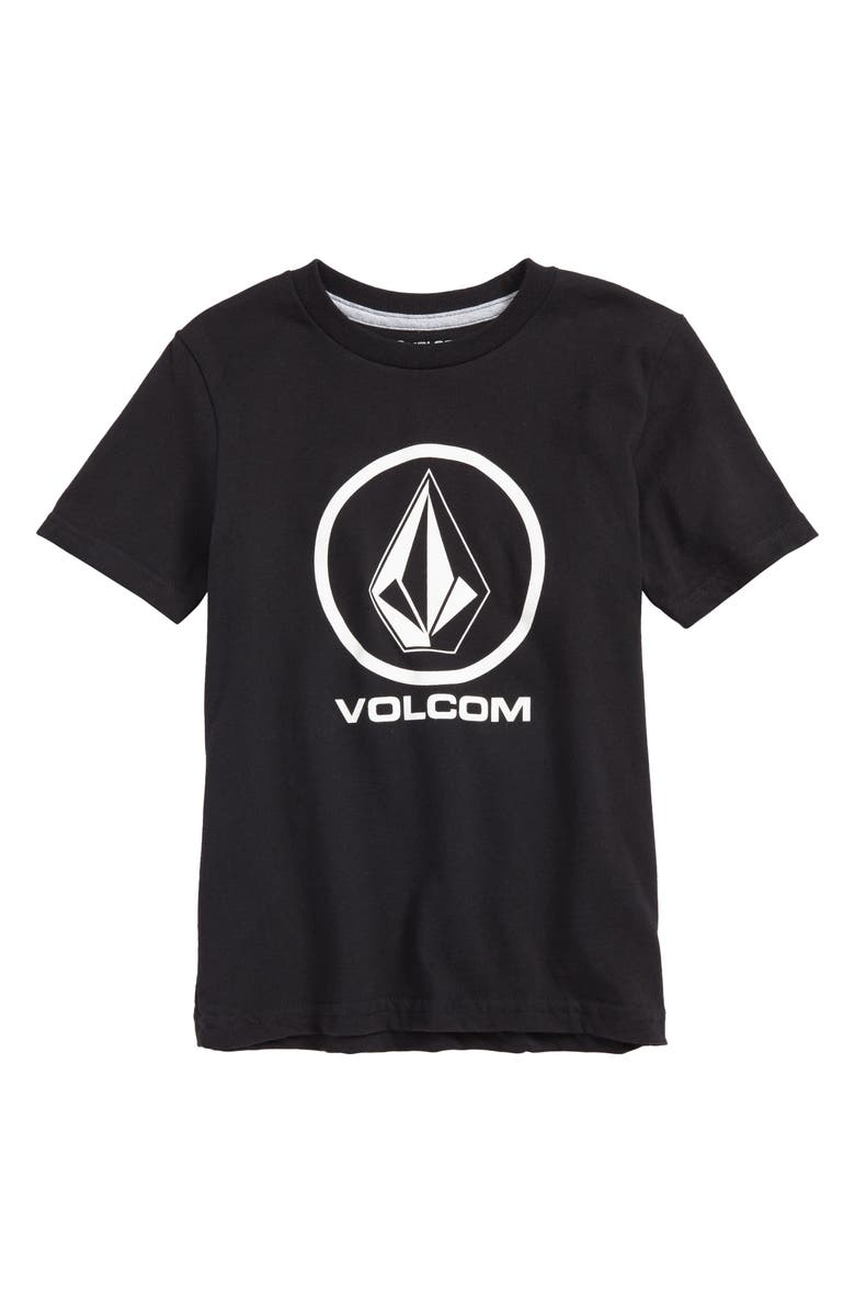 VOLCOM Crisp Stone Logo Graphic T-Shirt, Main, color, BLACK