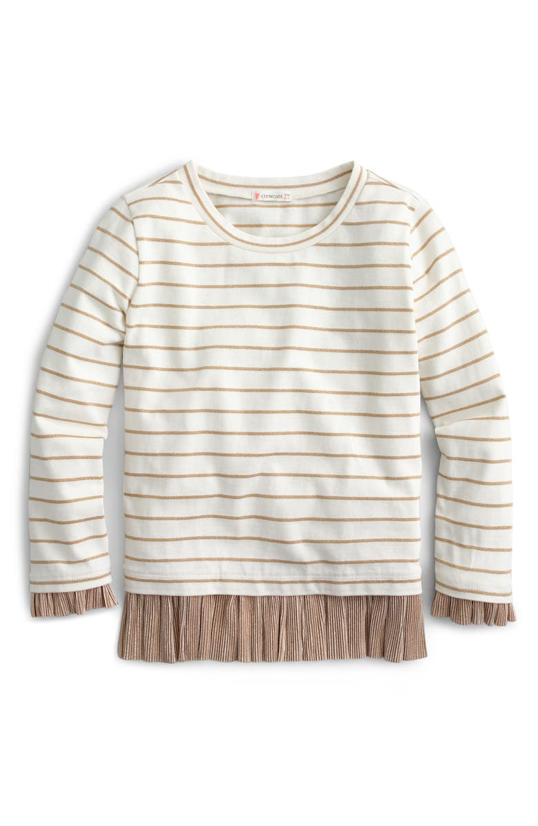 CREWCUTS BY J.CREW Striped Long Sleeve Tee, Main, color, 900