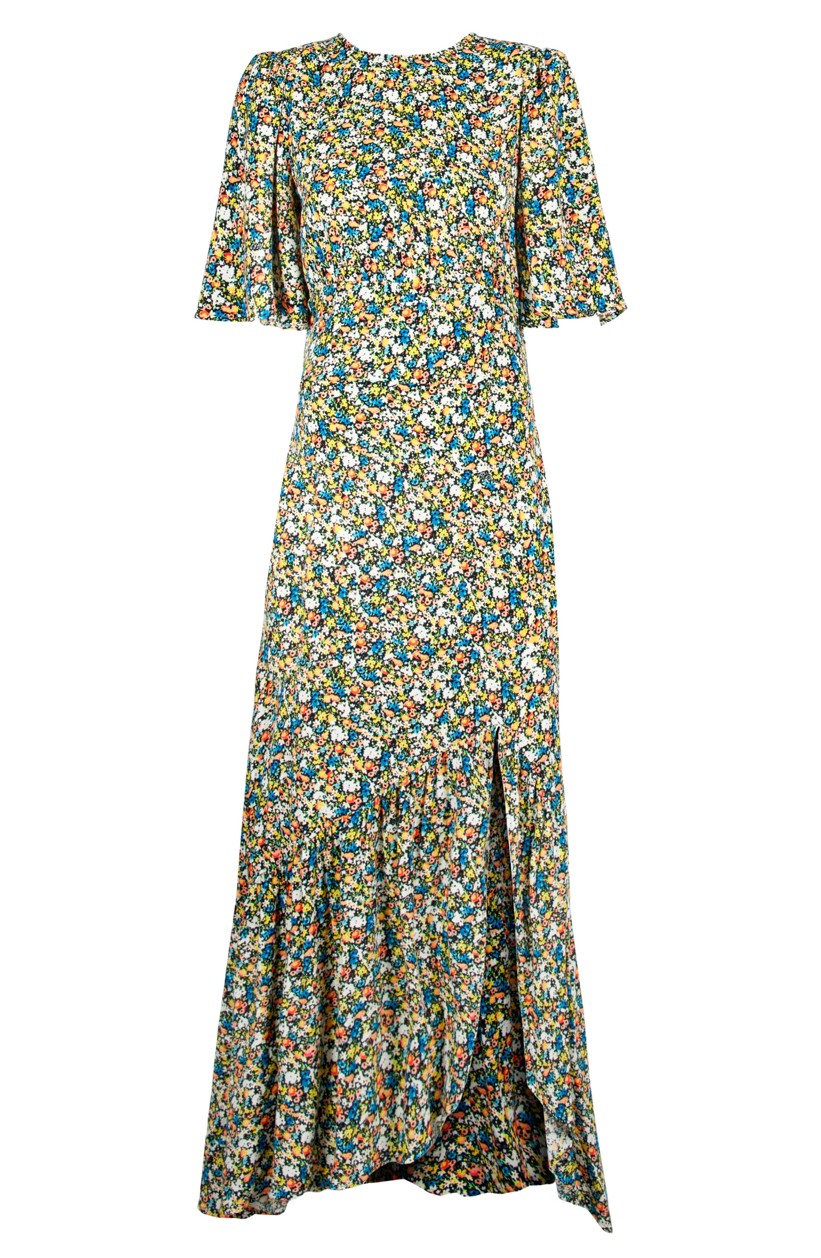 Pico Floral Open Back Dress