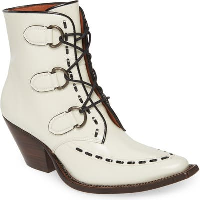 Coach Lace-Up Western Bootie- White