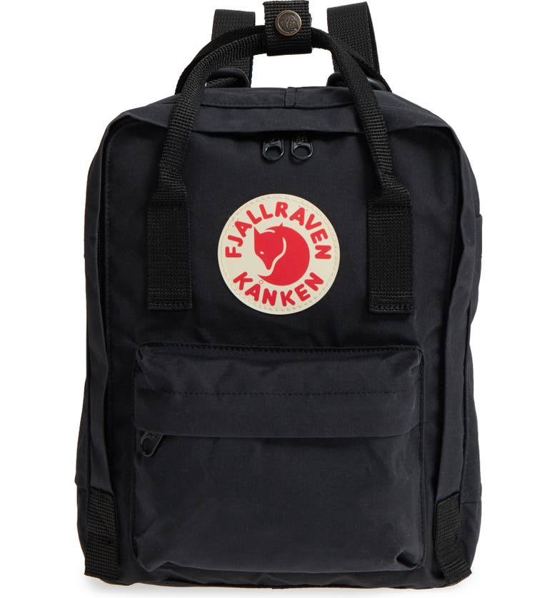 FJÄLLRÄVEN 'Mini Kånken' Water Resistant Backpack, Main, color, BLACK