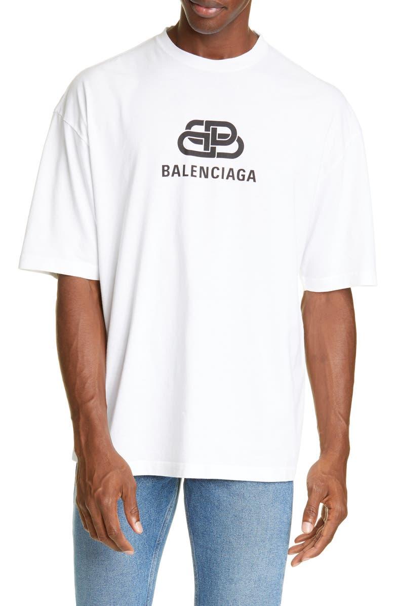 BALENCIAGA BB Graphic T-Shirt, Main, color, OFF WHITE