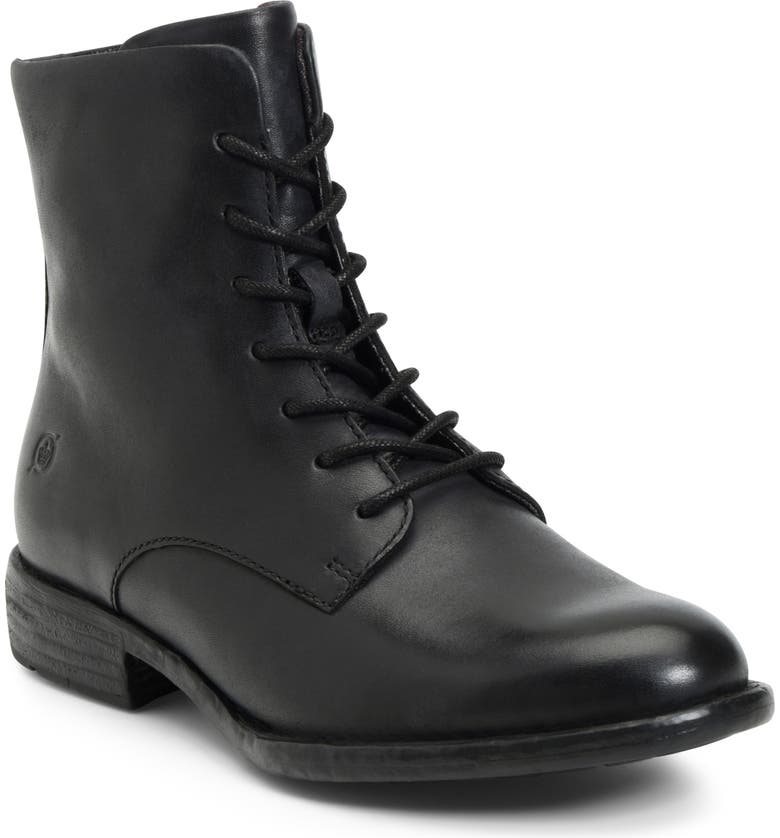 BØRN Tombeau Lace-Up Boot, Main, color, BLACK LEATHER