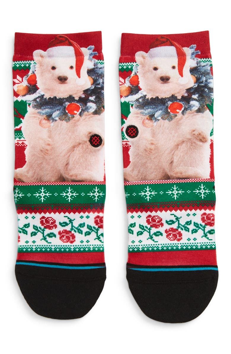 STANCE Pierre Polar Bear Socks, Main, color, RED