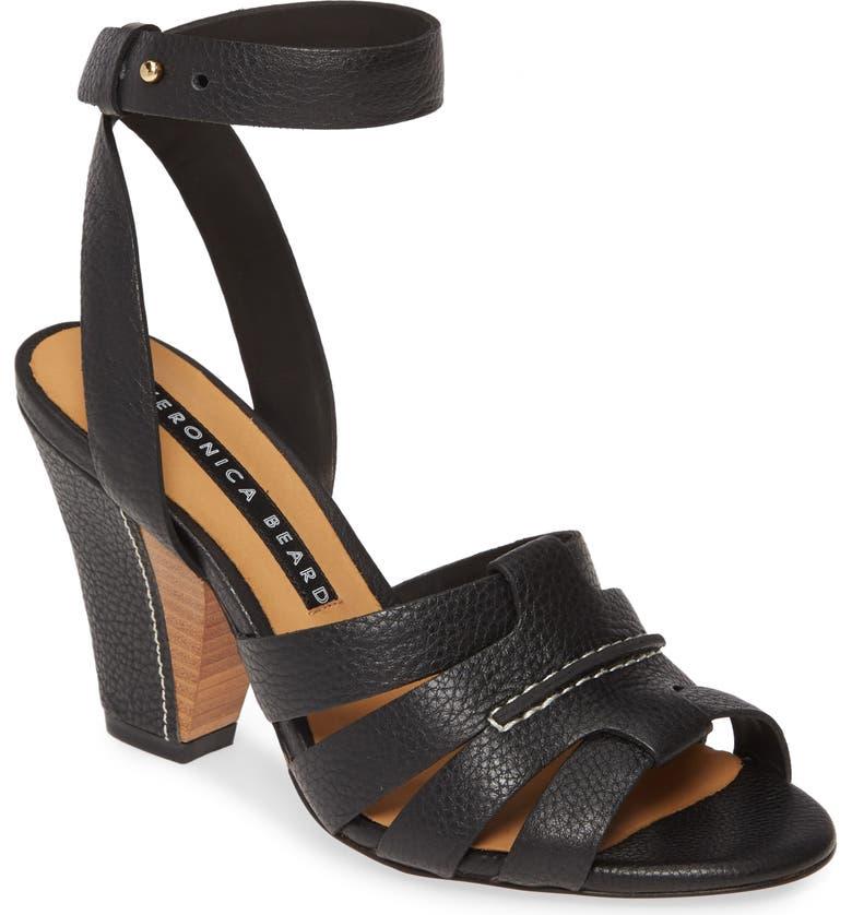VERONICA BEARD Charley Ankle Strap Sandal, Main, color, BLACK