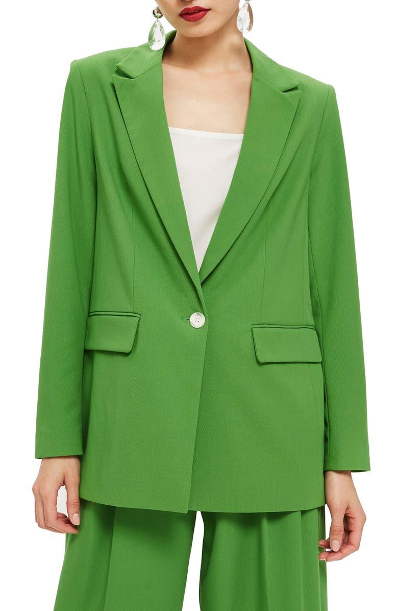 TOPSHOP Oversize Suit Jacket, Main, color, 300