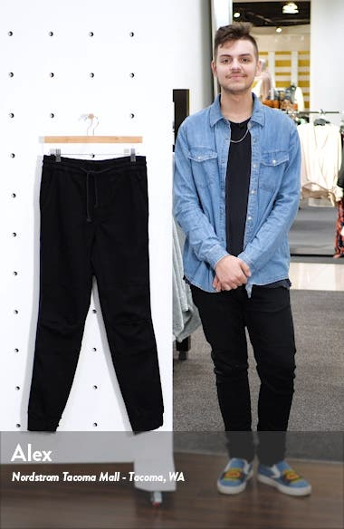 Slim Fit Denim Jogger Pants, sales video thumbnail