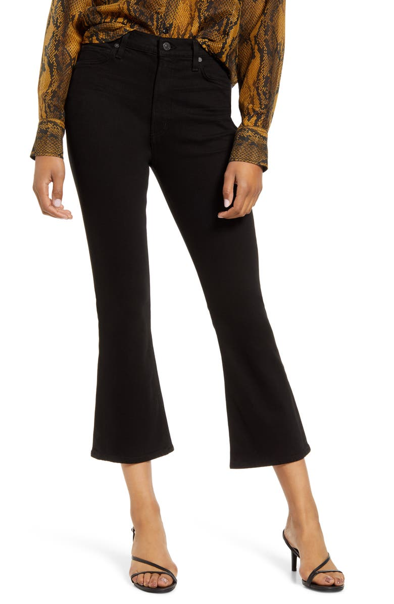CITIZENS OF HUMANITY Demy High Waist Crop Flare Jeans, Main, color, 004