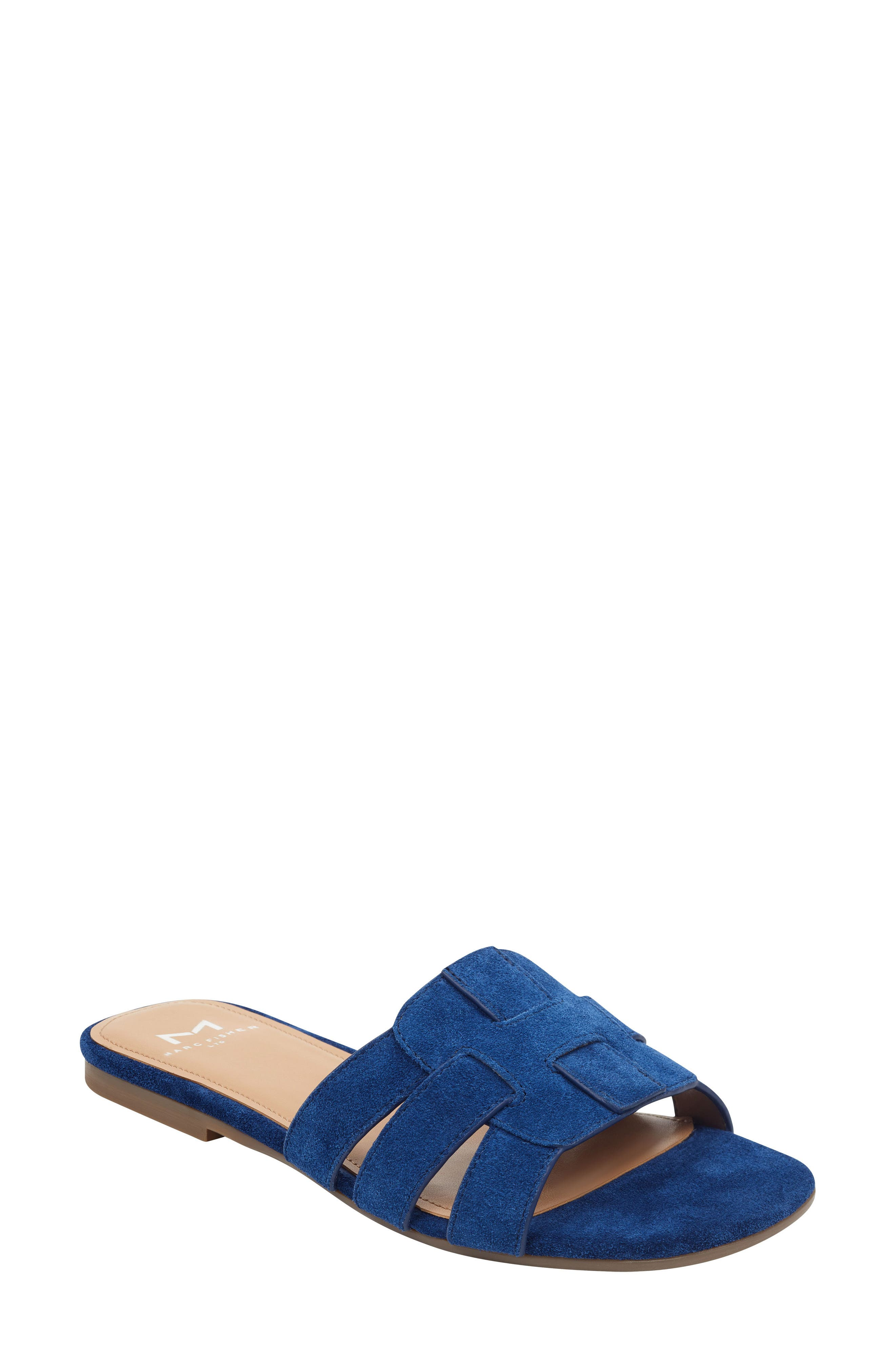 Marc Fisher Ltd Kayli Slide Sandal- Blue