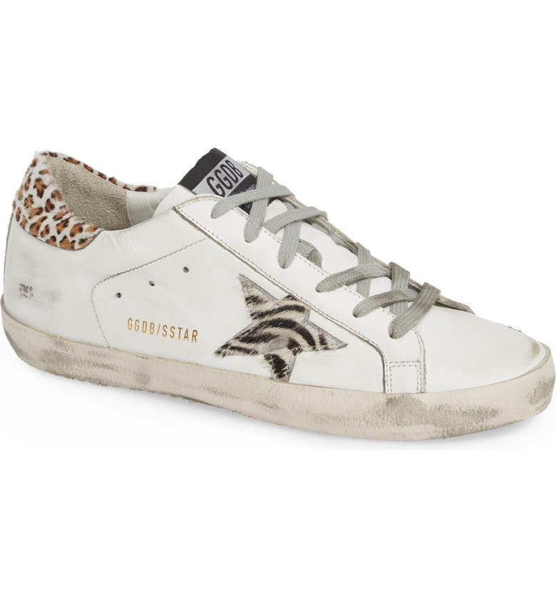 GOLDEN GOOSE Superstar Genuine Calf Hair Sneaker, Main, color, 100
