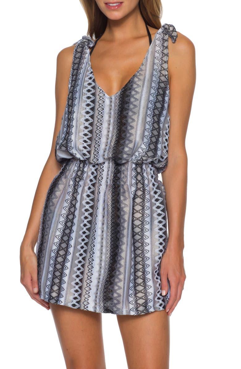 BECCA Rio Bueno Cover-Up Dress, Main, color, BLACK