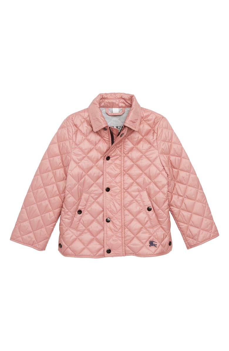 BURBERRY Diamond Quilted Jacket, Main, color, PALE ASH ROSE