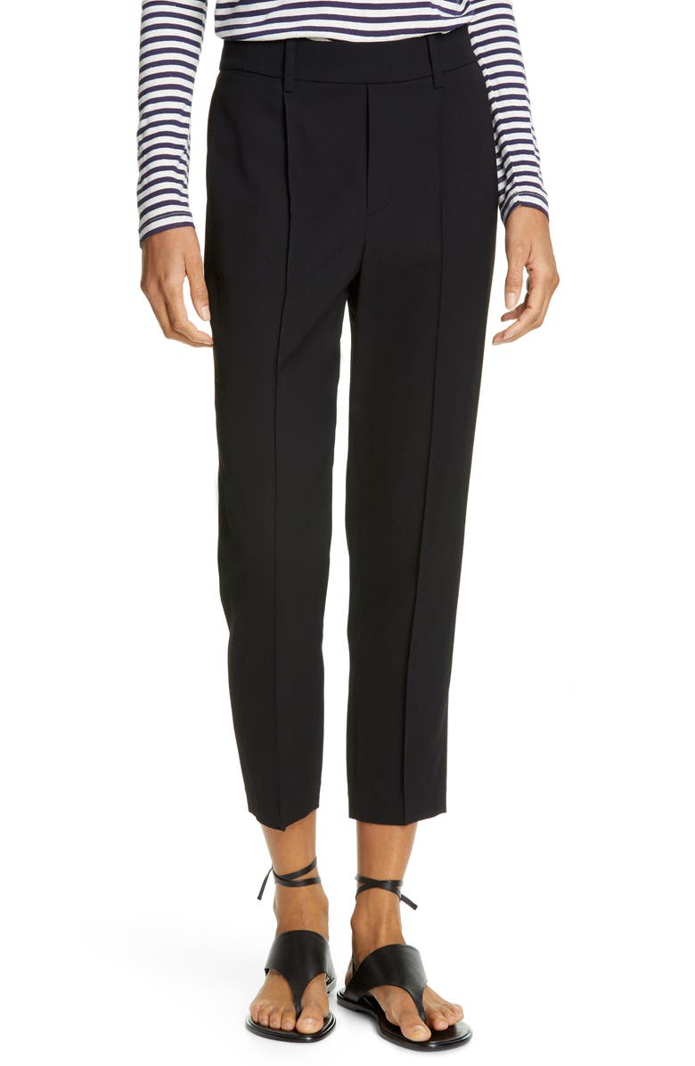 VINCE Easy Pull-On Ankle Pants, Main, color, BLACK