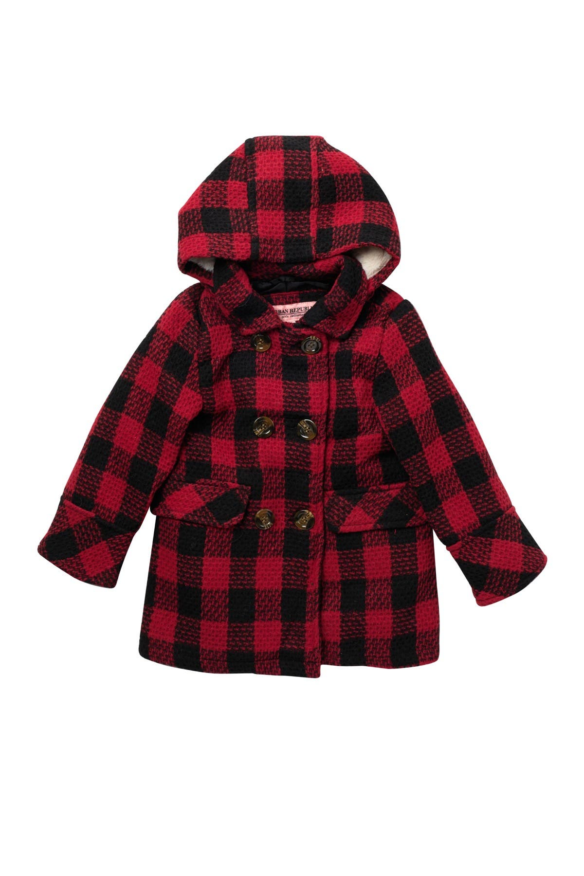 Image of Urban Republic Double Breasted Plaid Coat