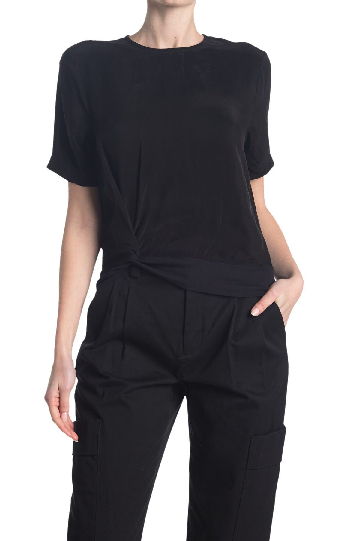Image of Stateside Cupro Twist Short Sleeve Top
