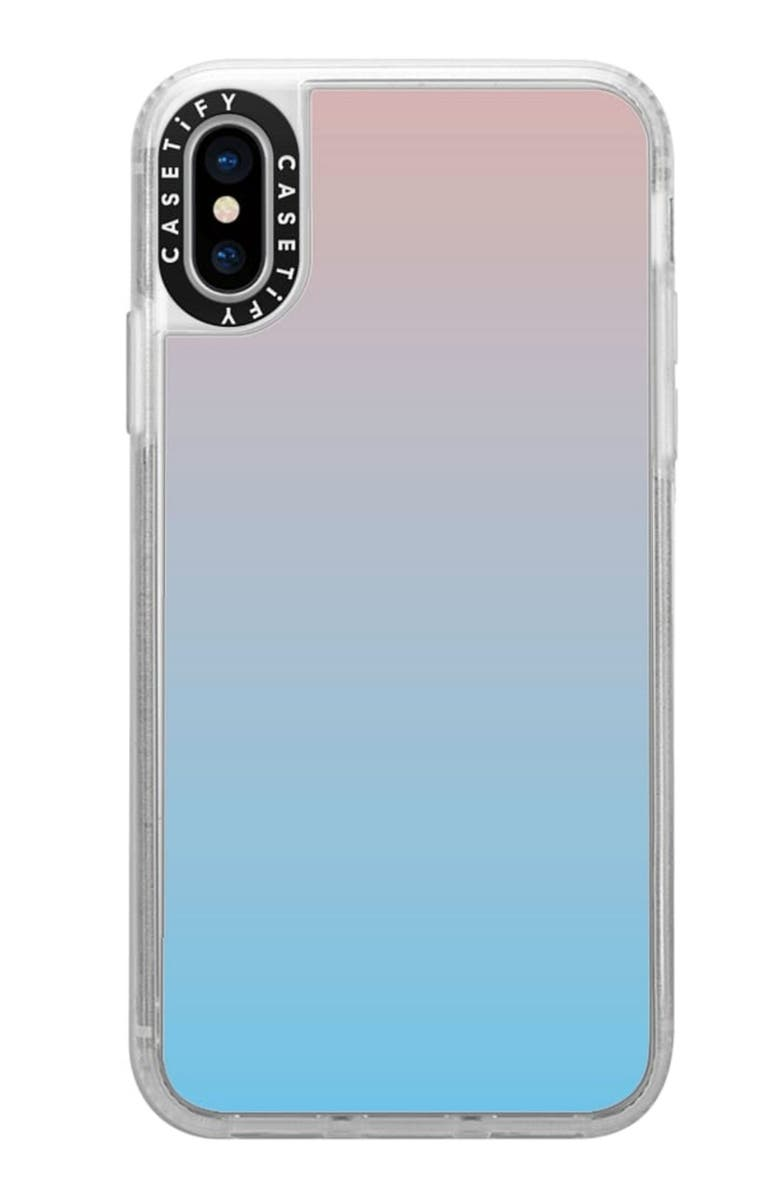 CASETIFY Blue Pink Gradient iPhone X/Xs Phone Case, Main, color, PINK/BLUE