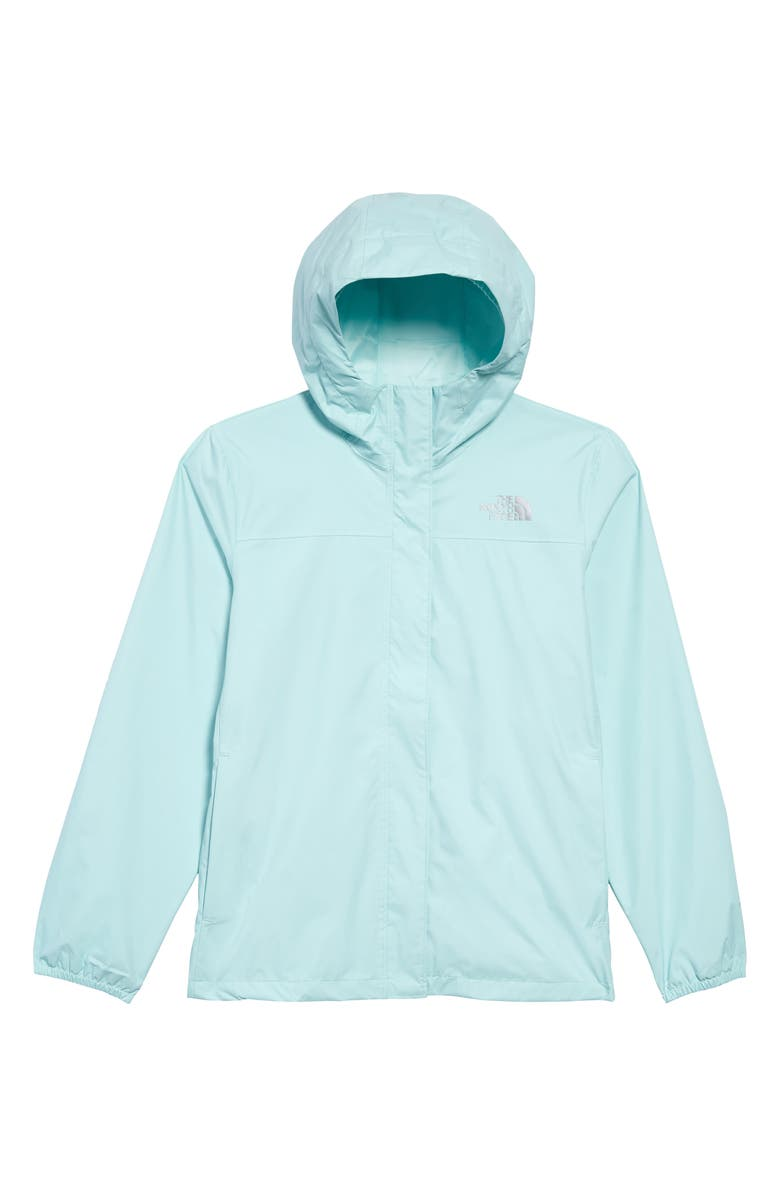 THE NORTH FACE Resolve Waterproof Hooded Jacket, Main, color, COASTAL GREEN