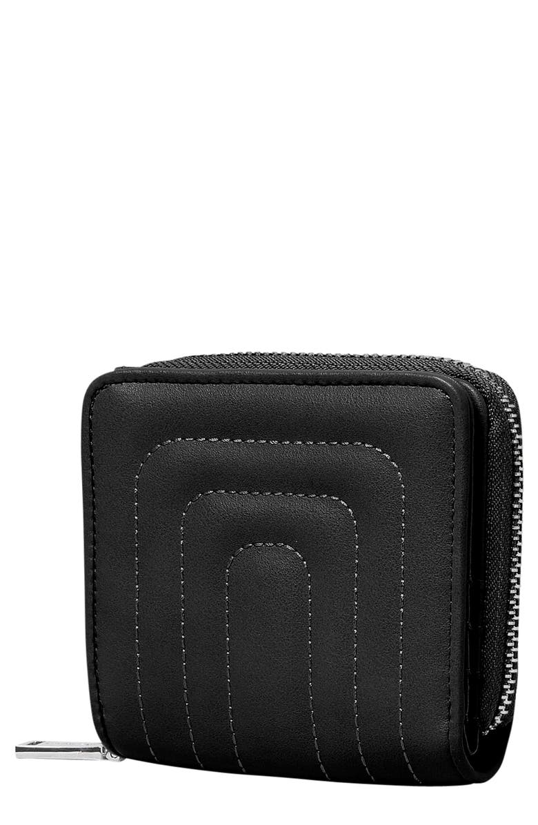 URBAN ORIGINALS Joy Quilted Vegan Leather Wallet, Main, color, BLACK