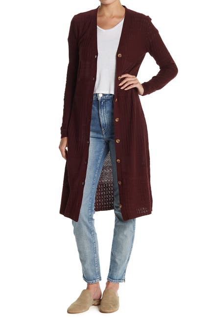 Image of Sanctuary Open Knit Duster Cardigan Sweater