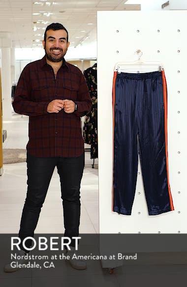 Ryan Pinstripe Satin Track Pants, sales video thumbnail