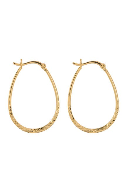 Image of Argento Vivo 18K Gold Plated Sterling Silver Horseshoe 33m Hoop Earrings
