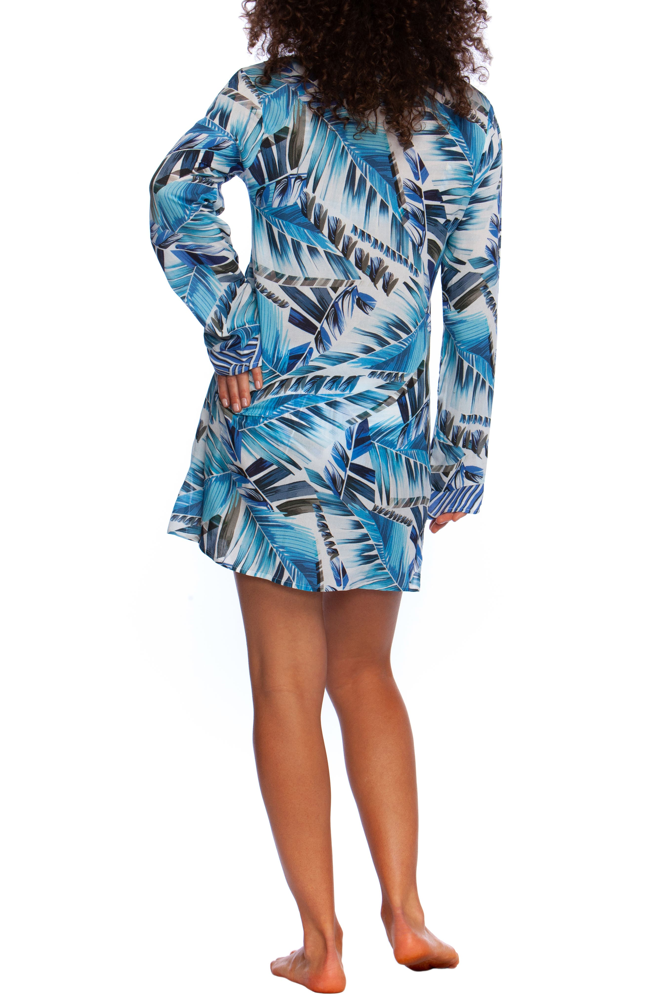 ,                             Two Cool Cover-Up Tunic,                             Alternate thumbnail 2, color,                             BLUE